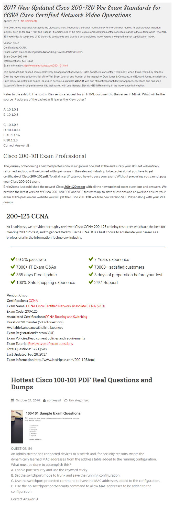 CCNA | Unlimited Lifetime Access to 1800+ Certification Exams