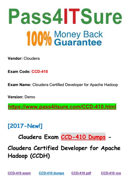 CCD-410 dumps